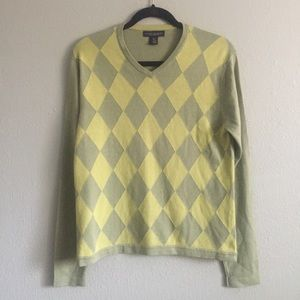 Mens Banana Republic argyle sweater